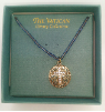 Blue Crystal Cross Pendant Vatican Necklace