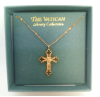 Heavenly Messages Silver & Clear Crystal Cross Necklace (SKU: P4331)
