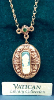 Gold St. Patrick Cameo Locket Necklace