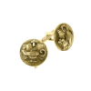"Gold-Tone ""Light Unto My Path"" Round Cuff Links"
