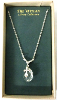 Silver Cross on Crystal Pendant Vatican Library Necklace