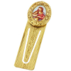 Gold-Tone Madonna and Child Small Bookmark