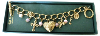 Gold-Plated Vatican Library Collection Charm Bracelet
