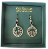 Silver - Red Swarovski Crystal Vatican Library Collection Earrings