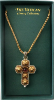 Gold Silver Amethyst Vatican Collection Cross Necklace
