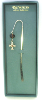 Silver and Topaz Crystals Bookmark