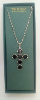 Jet Black Swarovski Crystal Cross Vatican Necklace