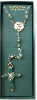 Vatican Collection Clear Crystal and Silver Bead Rosary