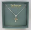 Delicate Silver Cross Vatican Necklace