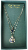 Delicate Inspirations Dual Strand Royal & Silver Hues Cross Necklace (SKU: P4368VJ)