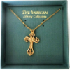 Vatican Library Collection Gold Cross Necklace