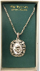Mother of Pearl and Silver Vatican Collection Cherub Necklace