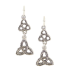 Celtic Trinity Triquetra Drop Earrings
