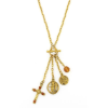 Angelos di Luce Mock Toggle Charm Necklace