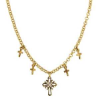 Delicate Inspirations Gold Cross Necklace (SKU: P4357)