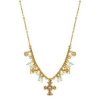 Delicate Inspirations Beaded Cross Pendant Necklace