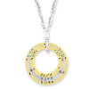 Heavenly Messages Gold & Silver Hope Faith & Love Hoop Necklace (SKU: P4794)