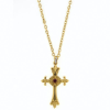 Blessed Flower of the Lily Ornate Cross Necklace