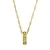 Gold Cross Ring Pendant Necklace