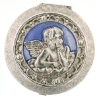 Silver and Blue Angel Pill Box