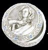 Silver and Sapphire Holy Mother Rosary Box