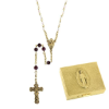 Garnet-January Birthstone Rosary and Rosary Box