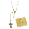 Clear-April Birthstone Rosary and Rosary Box