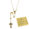 Topaz-November Birthstone Rosary and Rosary Box