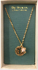 Gold - Pink Porcelain Pendant Necklace