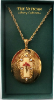 Vatican Collection Gold Locket with White Cross