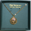 Pink Rose Cross Pendant Vatican Collection Necklace