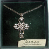 Silver Vatican Library Collection Cross Key Chain