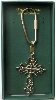 Vatican Library Collection Silver-plated Cross Key Ring