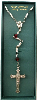 Vatican Collection Silver and Red Crystal Rosary