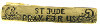"Gold-Tone St. Jude ""Pray for Us"" Tie Bar Clip"