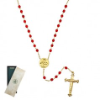 Mary and Child Siam Crystal Locket Rosary