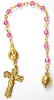 Rose Swarovski Crystals Channel Decade Rosary Beads