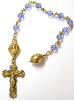 Light Sapphire Swarovski Crystals Channel Decade Rosary Beads
