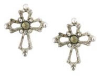 Marcasite - Silver Cross Stud Earrings