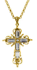 14K Gold-dipped Crystal Cross Necklace