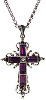 Amethyst Crystal Silver-plated Cross Necklace
