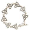 Celtic Trinity Triquetra Toggle Bracelet