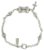 Silver Mary Pray for Us Cross Bracelet