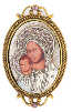 Pope John Paul II Replica Iconica Mary and Child Brooch (SKU: 91110)
