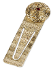 Sistine Cross Gold Tone Bookmark