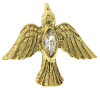Gold-Tone Holy Spirit Dove Tie Tack (SKU: 91255)