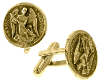 St. Michael Gold-Tone Round Cuff Links