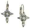 Crystal Cross Earrings