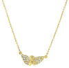 14K Gold Dipped Crystal Guardian Angel Necklace