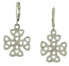 Silver-Tone Celtic Trinity Cross Earrings
